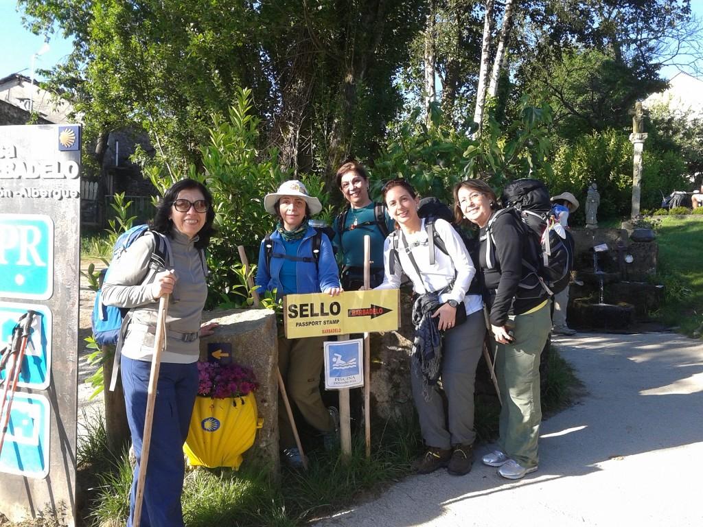 Nosso grupo na Caminho de Santiago