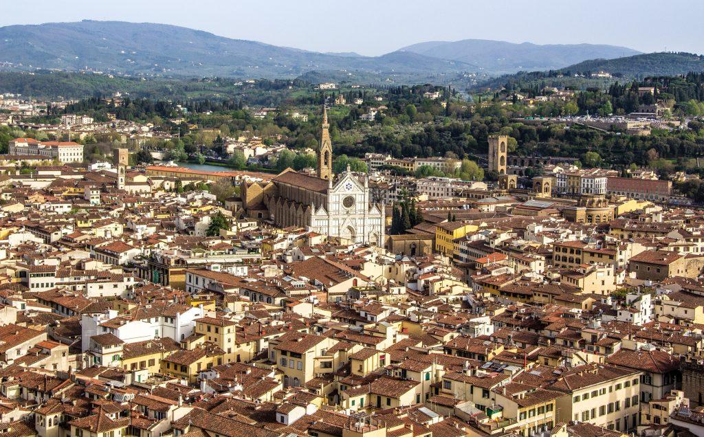 Vista da arquitetura de Florença desde o alto - roteiro de 3 dias