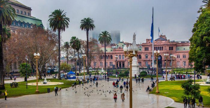 Casa Rosada em um dia cinzento - o que fazer em Buenos Aires com chuva
